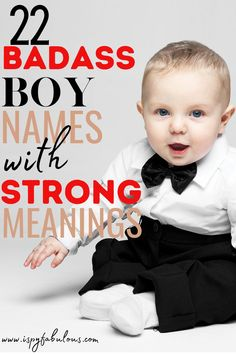 These badass boy names are cool and have strong meanings. Finding your new favorite boy name just got a lot easier! #boynames #babynames Badass Boy Names, Cool Boy Names, Unique Boy Names, Italian Baby Names, Irish Baby Names, Strong Boys Names, Modern Baby Names, Gender Neutral Names, Celebrity Baby Names