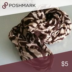 SALE Brown and tan fashion scarf Excellent condition Accessories Scarves & Wraps