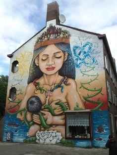 Mural in Slotermeer-Noordoost, Amsterdam, Netherlands - Street Art Utopia Graffiti Art, Murals Street Art, Street Art Utopia, 3d Street Art, Amazing Street Art, Street Artists, Amazing Art, Street Art Amsterdam, Roman Empire