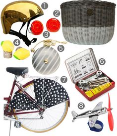 Design Sponge puts you in the know for all of the hottest bicycling accessories this spring.