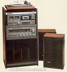 Sistema GRADIENTE SYSTEM 95 S-95 // composto por: Toca-discos Garrard 630S, Tape Deck CD-2000, Receiver Model 900, Caixas Master 33 ou Master 44 ou Master 55, Rack S-95