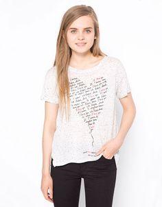 Shirt BSK Aufdruck Herz - Woman - Bershka Deutschland