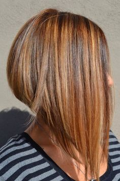 10 Best Covering Auburn With Long A-Line Styles 2018 - Long Bob Frisuren Inverted Bob Haircuts, Angled Bob Hairstyles, Long Bob Haircuts, Medium Hair Styles, Short Hair Styles, Bobs For Thin Hair, Corte Y Color, Great Hair, Hair Dos