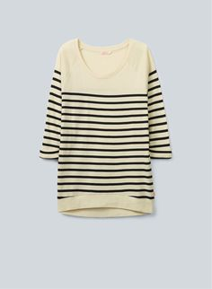TNA DEL MAR T-SHIRT - A super-soft, striped baby-rib tee with slouchy sweatshirt styling