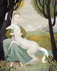 "Taryn Knight painting study of Domenichino's ""A Virgin with a Unicorn"""