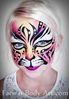 Tiger girl, very nicely done face art.