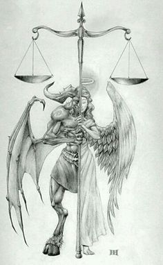 The balance between good and evil
