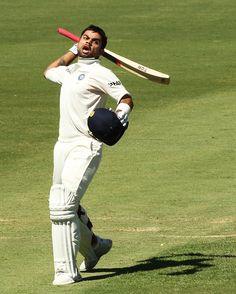 Maiden test 100 ! Many more to come !! #Virat #Kohli #Century
