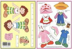 susan akins posted Printable Strawberry Shortcake Paper Dolls with 4 sheets of clothing and accessories! (Links to other paper dolls posted here as well.) to their -Preschool items- postboard via the Juxtapost bookmarklet. Strawberry Shortcake Characters, Strawberry Shortcake Party, Paper Toys, Paper Crafts, Paper Dolls Printable, Paper Doll Template, Paper Doll House, Doll Closet, Bizarre