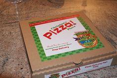 Teenage Mutant Ninja Turtles Birthday Party, Pizza Box Cover , Printable, Diy