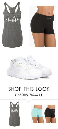 """hustle"" by ashlee-borst on Polyvore featuring NIKE"