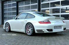 produces premiere custom-made one-piece, two-piece and three-piece forged aluminum and carbon fiber wheels for supercars, sports & luxury cars, providing their owners with the utmost perfect aftermarket wheel solution Porsche 997 Turbo, 996 Porsche, 911 Turbo, Porsche Sports Car, Porsche Cars, Japanese Sports Cars, Volkswagen Group, Vintage Porsche, Tuner Cars