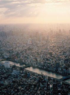 A Sunset of Tokyo