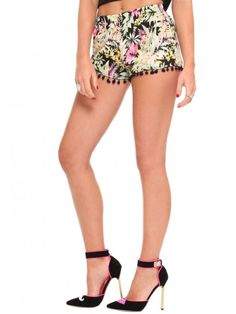 Great legs, skirt and heels! Tropical Pom Pom Shorts | Gypsy Warrior