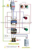 Esquemas eléctricos: Conexión de un motor trifásico a una red monofásic...
