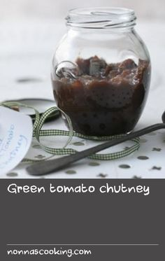 Use up green tomatoes from your garden with this tasty chutney recipe - it's delicious on a cheese sandwich. Vegan Gluten Free, Vegan Vegetarian, Greek Cheese, Cheese Sandwich Recipes, Tomato Chutney, Chutney Recipes, Green Tomatoes, Greens Recipe, Chutneys