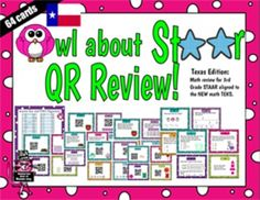 This is a task card activity written for third graders who are going to take the STAAR test. Test review isn't always fun, but with task cards we can make it fun!   There are 64 math problems aligned with the new Texas TEKS included in this set.