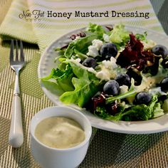Non-Fat Honey Mustard Dressing at 24 calories and no fat is not only healthy, it's delicious, too!    #MyAllrecipes #AllrecipesAllstars