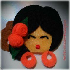 Broche de cabecita de flamenca