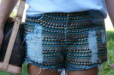short customizado de pedrarias | Shorts customizados fotos e ideias 2015 3 Shorts customizados, fotos e ...