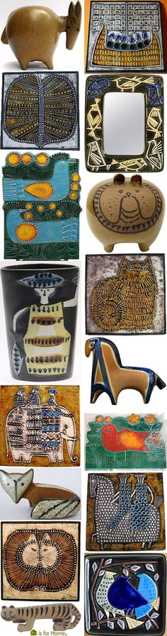 Mosaic of Lisa Larson's ceramic work | H is for Home