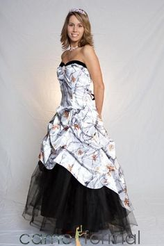 camouflage prom dresses | snow camo camouflage snow camouflage country redneck prom