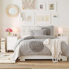 This bedroom is SO gorgeous! I would love to live in this bedroom!