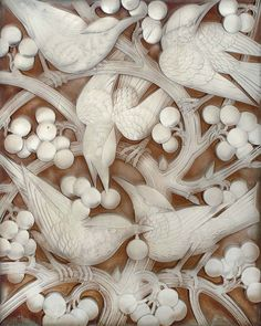~René Lalique, Blackbirds and grapes, glass panel,1928. ZsaZsa Bellagio – Like No Other