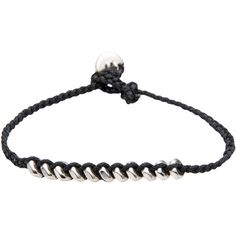 Marc By Marc Jacobs Bracelet ($43) ❤ liked on Polyvore featuring jewelry, bracelets, black, marc by marc jacobs bangle, marc by marc jacobs and marc by marc jacobs jewelry