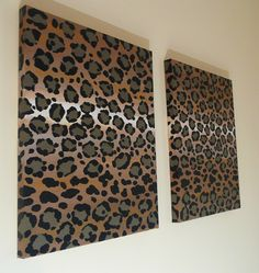 Leopard Print Canvas.. or this! @Jay Brass