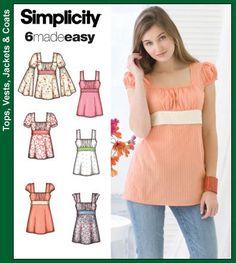 Simplicity Pattern 3750 - Gypsy Empire Top