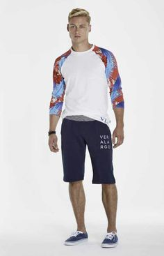 Floral & Sailcloth Deploy Shirt, Navy Coast Shorts. #menswear #mensfashion #allaboutthewater