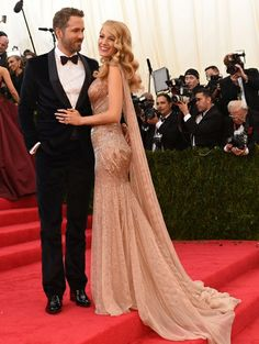 Blake Lively & Ryan Reynolds @ MET Gala 2014