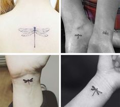 Cute Small Tattoos For Girls With Their Meanings: Tiny Dragonfly Tattoos