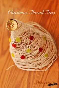 Christmas Thread Trees (Easy Christmas Craft)
