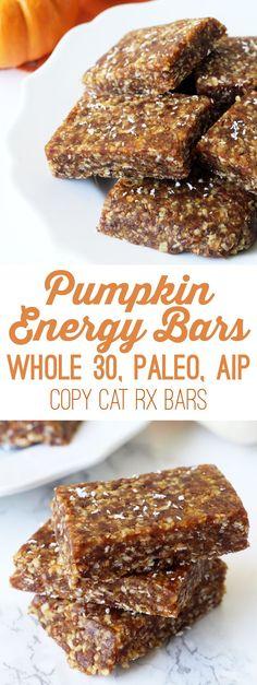 Pumpkin Energy Bars (Paleo, Whole 30, AIP)