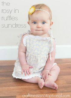DIY Baby Girl Dress : DIY Rosy in Ruffles Sundress