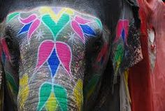 painted elephant - Google Search❤️