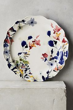 I want 2 plates Wildflower Study Dinner Plate #anthropologie