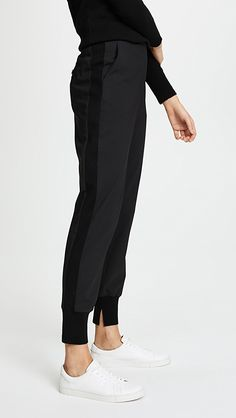 online shopping for Phillip Lim Jogger Pants from top store. See new offer for Phillip Lim Jogger Pants Black Joggers, Pants For Women, Clothes For Women, Athletic Fashion, Athletic Style, Athletic Pants, China Fashion, 3.1 Phillip Lim, Work Wear