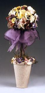 DIY Topiary  : DIY Beautiful-in-Bloom Pansy Topiary