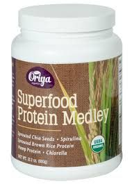 Oriya Organics Superfood Protein Medley Containing Sprouted Chia Seed Powder.A RECALLED.   A user possible contamination.  #oriyaorganic #Anorganiccontamination #FDAalert.
