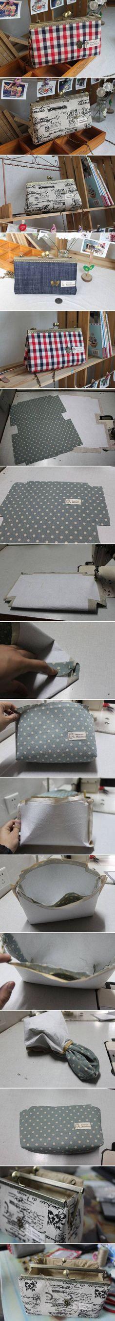 DIY Simple Handbag DIY Simple Handbag by diyforever Diy Handbag, Diy Purse, Clutch Purse, Diy Clutch, Purse Wallet, My Bags, Purses And Bags, Lv Pochette, Diy Sac