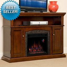 ChimneyFree Lynwood Electric Fireplace Entertainment Center in Vintage Cherry - 18MM4105-C233 $599.00 (save $350.00)