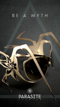 VAMP Gold limited edition sunglasses by Parasite Eyewear