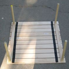 Make a Collapsable Table for Concerts in the Park!: We saw this table, currently offered by Crate & Barrel, at concert in the park. We couldn't resist cloning it. I've written another Instructable for a carry bag for this table here. Table Camping, Diy Picnic Table, Camping Diy, Diy Table, Tent Camping, Camping Hacks, Outdoor Camping, Camping Essentials, Camping Gear