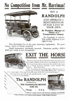 1904 Randolph Automobile Advertisement