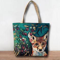 *NEW* TB261 - Fox in Brambles Tote Bag