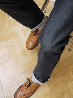 "This article about middle aged men and jeans states the obvious, but it gives good advice anyway. Guys, it's NOT okay to hit 40 and begin acting like what we look like doesn't matter? Levi 501's are still my choice. Cheap enough to keep fresh, snug enough to not look like saggy ""dad"" jeans, no roll (I'm short and portly) and I wear them with Red Wings Beckman Heritage Collection boots."