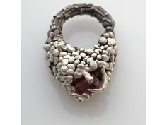 Eily O'Connell - Ovisscree Ring (silver, mixed materials)  love the texture